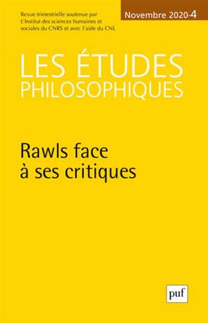 Etudes philosophiques (Les). n° 4 (2020), Rawls face à ses critiques