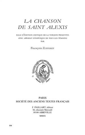 La chanson de saint Alexis