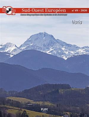 Sud-Ouest européen. n° 49, Varia