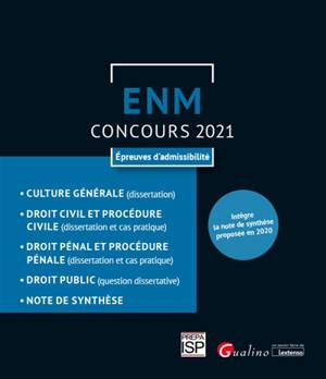 ENM, concours 2021 : épreuves d'admissibilité