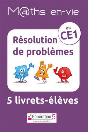 M@ths en-vie, résolution de problèmes au CE1 : 5 livrets-élèves
