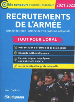 Recrutements de l'armée 2021-2022 : armée de terre, armée de l'air, marine nationale : tout pour l'oral