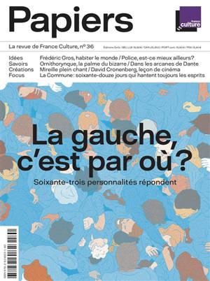 France Culture papiers. n° 36, La gauche, c'est par où ? : soixante-trois personnalités répondent