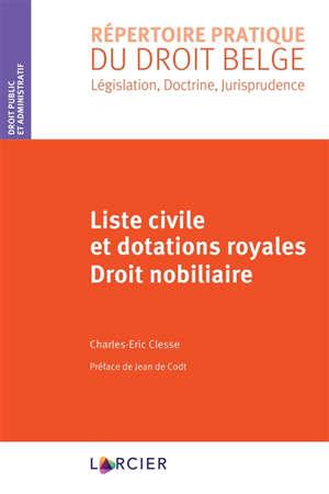 Liste civile et dotations royales : droit nobiliaire