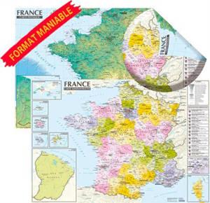 France : carte physique et administrative