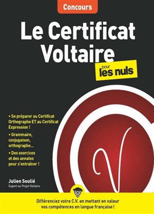 Le certificat Voltaire pour les nuls