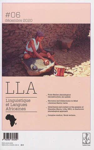 Linguistique et langues africaines. n° 6
