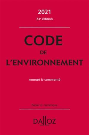 Code de l'environnement 2021