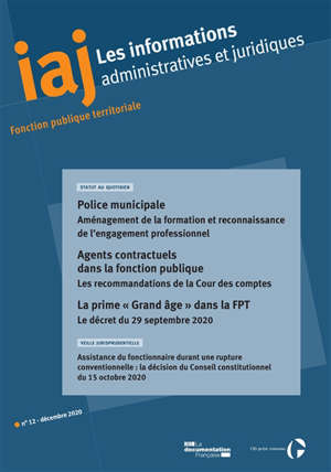 Informations administratives et juridiques. n° 12 (2020)