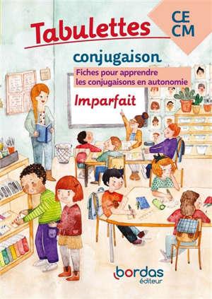 Tabulettes conjugaison, imparfait, CE-CM : fiches pour apprendre les conjugaisons en autonomie