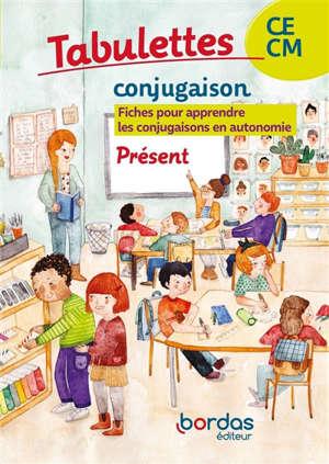 Tabulettes conjugaison, présent, CE-CM : fiches pour apprendre les conjugaisons en autonomie