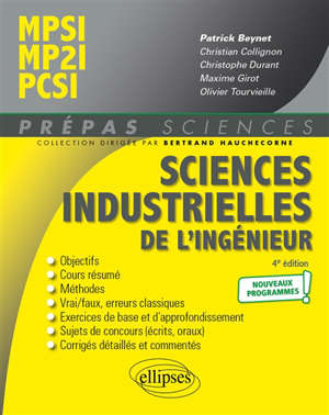 Sciences industrielles de l'ingénieur MPSI-MP2I, PCSI : nouveaux programmes