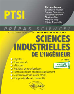 Sciences industrielles de l'ingénieur PTSI : nouveaux programmes