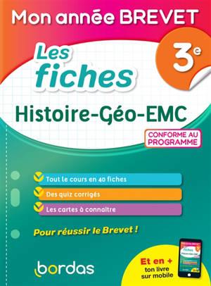 Les fiches histoire géo EMC 3e