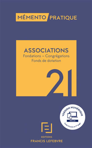 Associations : fondations, congrégations, fonds de dotation : 2021