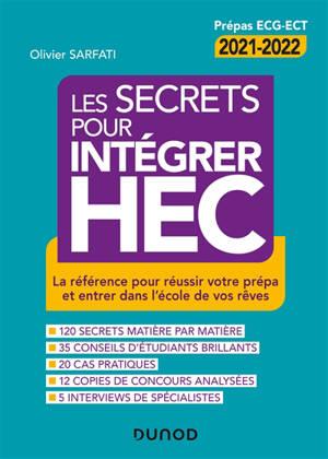 Les secrets pour intégrer HEC : prépas ECG-ECT 2021-2022