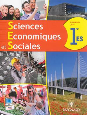 Sciences économiques et sociales, 1re ES : programme 2014