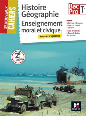 Histoire géographie, enseignement moral et civique, terminale bac pro : nouveau programme