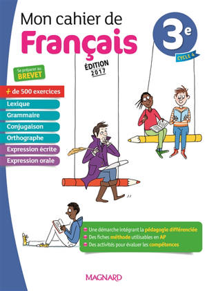 Mon cahier de français 3e, cycle 4