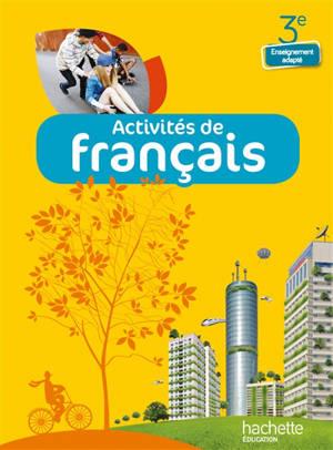 Activités de français, 3e enseignement adapté