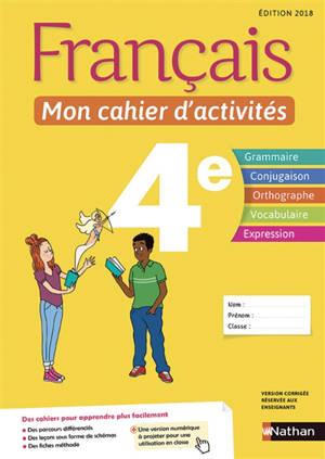 Français, mon cahier d'activités 4e