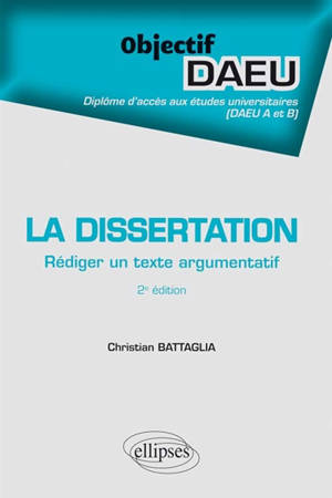 La dissertation : rédiger un texte argumentatif