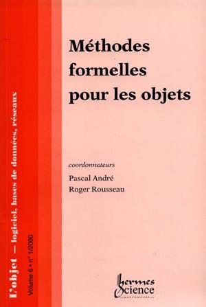 Objet (L'). n° 1(2000), Méthodes formelles pour les objets