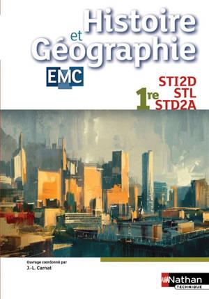 Histoire et géographie, EMC : 1re STI2D, STL, STD2A