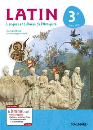 Latin, langues et cultures de l'Antiquité 3e : bimanuel