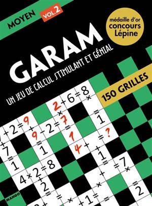 Garam, un jeu de calcul stimulant et génial : niveau moyen 2