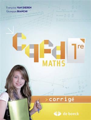 CQFD maths 1re : corrigé