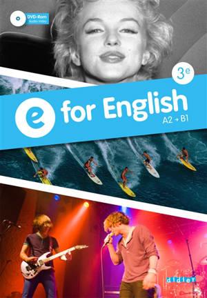 E for English 3e : A2-B1 : workbook