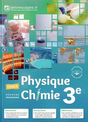 Physique chimie 3e, cycle 4 : nouveau programme
