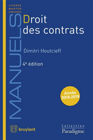 Droit des contrats : année 2018-2019