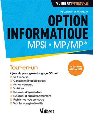Option informatique MPSI, MP-MP* : tout-en-un