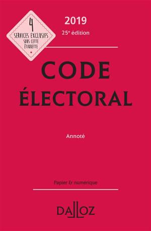Code électoral 2019, annoté