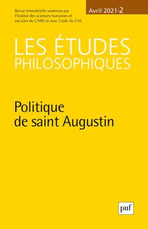Etudes philosophiques (Les). n° 2 (2021), Politique de saint Augustin