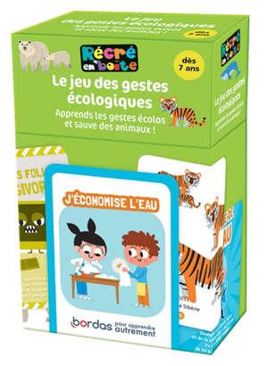 Le jeu des gestes écologiques : apprends les gestes écolos et sauve des animaux !
