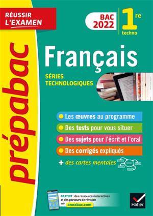 Français 1re technologique : bac 2022