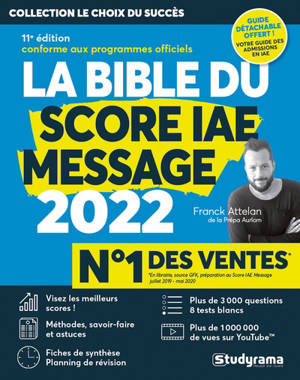 La bible du Score IAE Message : 2022
