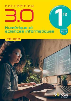Numérique et sciences informatiques 1re : cahier : programme 2019