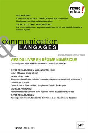 Communication & langages. n° 207, Vies du livre en régime numérique