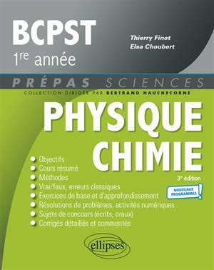Physique chimie BCPST 1re année : nouveaux programmes