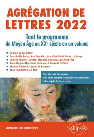 Agrégation de lettres 2022 : tout le programme du Moyen Age au XXe siècle en un volume