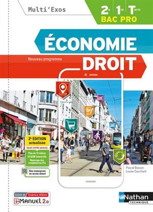 Economie, droit, 2de, 1re, terminale bac pro : nouveau programme