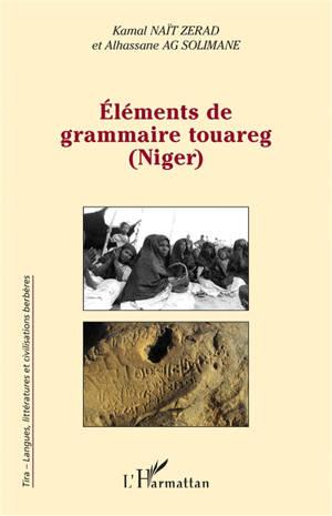 Eléments de grammaire touareg (Niger)