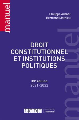 Droit constitutionnel et institutions politiques : 2021-2022