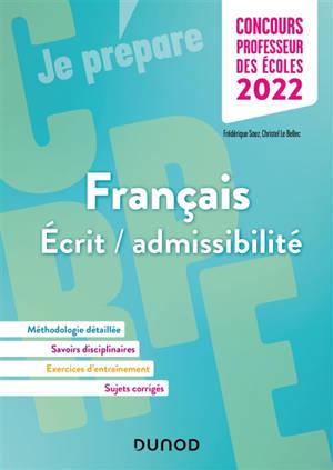 Français, écrit-admissibilité, concours professeur des écoles 2022