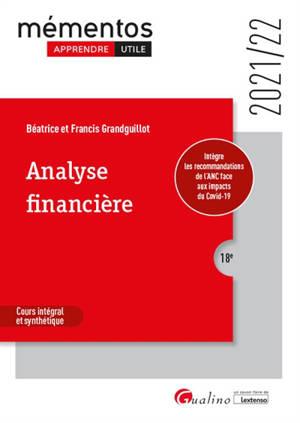 Analyse financière : cours intégral et synthétique : 2021-2022