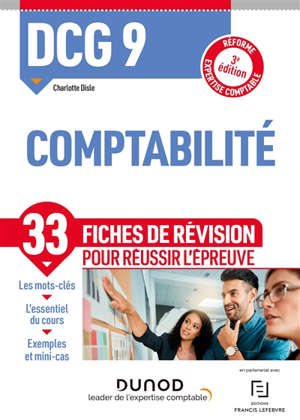 DCG 9, comptabilité : fiches de révision